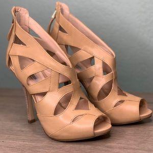 Guess Open toes nude heels